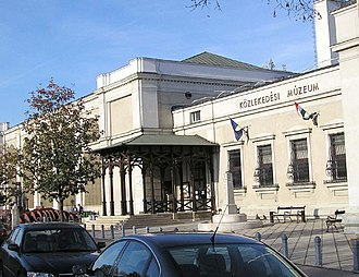 Hungarian Technical and Transportation Museum - The main entrance of the old building of Hungarian Museum of Science, Technology and Transport