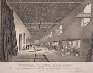Tinning - Treforest tin works, Glamorganshire c.1840