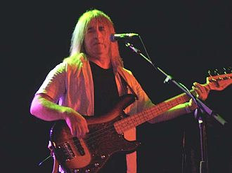 Trevor Bolder - Bolder playing a Fender Precision Bass signature bass guitar in 2006