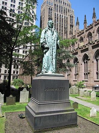 John Watts (New York politician) - Monument to John Watts in the Trinity Church Cemetery in New York