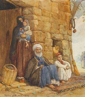 Lebanese people - A Druze family of the Lebanon, late 1800s