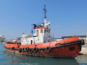 Tugboat Rigel (IMO 8730584) - Split, Croatia - 24 Sept. 2011.jpg
