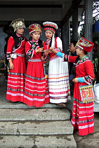 Tujia people - Tujia women wearing traditional clothing