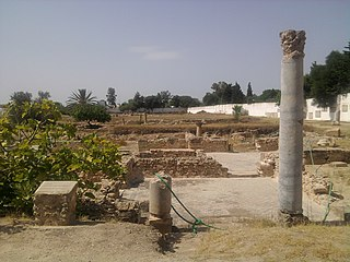Pupput archaeological site in Tunisia