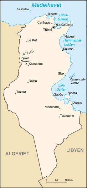 Tunisie carte-sv