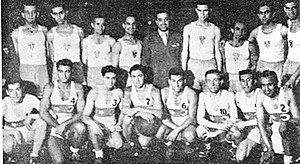 Turkey national basketball team - Turkey against Greece in 1936.