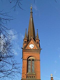 Turmspitze (Heilig-Kreuz-Kirche, Leipzig).jpg