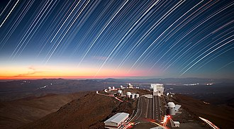 Proper motion - Image: Twilight Rays at La Silla