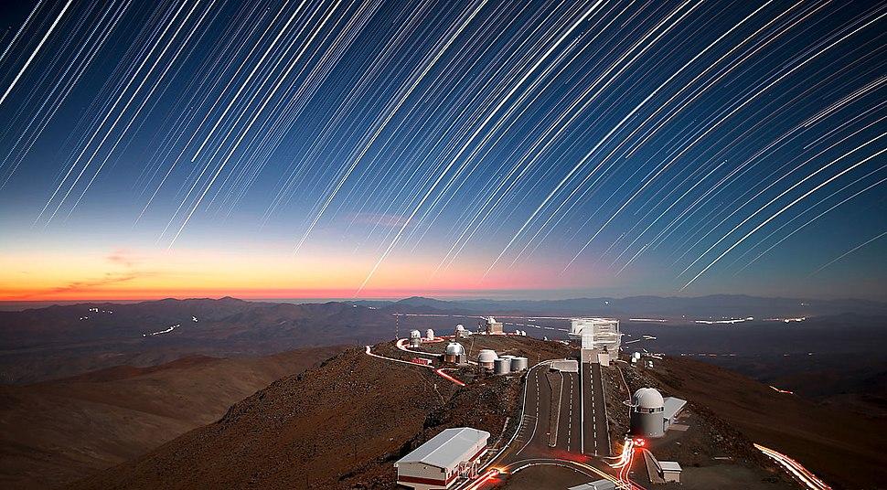 Twilight Rays at La Silla