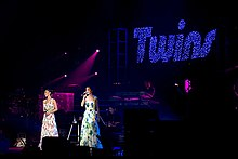 Twins on their North American tour in Concert Cow Palace, San Francisco on 15 September 2007