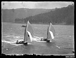 Two 18 footers sailing on the Hawkesbury River (7935178148).jpg