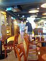 Two people pose for a double selfie in The Charlie Brown Cafe, Hong Kong- 2013-08-23 14-08.jpg