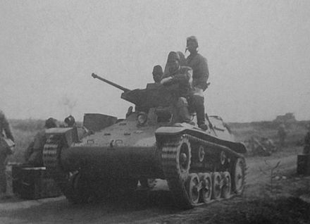 Type 97 Te-Ke tankette in China Type 97 light armored car Te-Ke 02.jpg