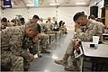 U.S. Marines and Sailors pray during the Faith in Combat Leadership Breakfast Aug. 28, 2012, at Camp Leatherneck, Afghanistan 120828-M-GN937-546.jpg