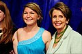U.S. Rep. Nancy Pelosi, right, poses for a photograph with Amanda Wimmersberg during the Operation Homefront's 5th Annual Military Child of the Year Awards Gala in Washington, D.C., April 11, 2013 130411-G-ZX620-032.jpg