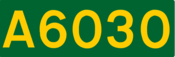 A6030 road shield