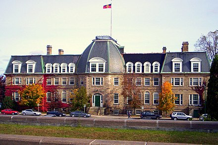 The University of New Brunswick has the largest student enrolment in the province. UNB OldArtsBuilding.JPG