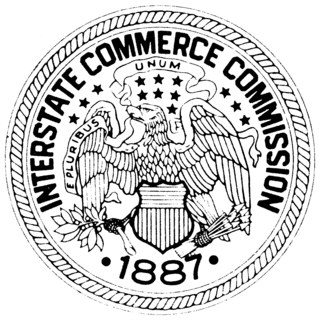 Interstate Commerce Commission A regulatory agency in the United States created by the Interstate Commerce Act of 1887