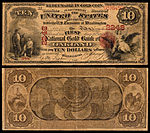 alt1=$10 National Gold Bank Note, The First National Gold Bank of Oakland