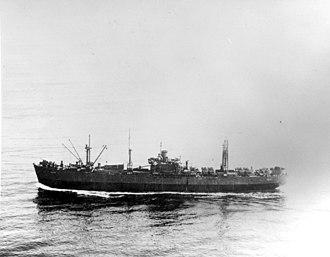 USS Alnitah (AK-127) - Alnitah (AK-127) under way, date and location unknown.