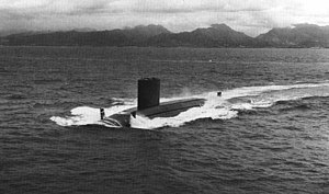 USS Blueback (SS-581) - Image: USS Blueback (SS 581) underway c 1960s