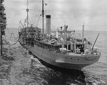 USS Brazos (AO-4) stern view 1940