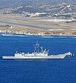USS Ford sails into Guantanamo Bay.jpg