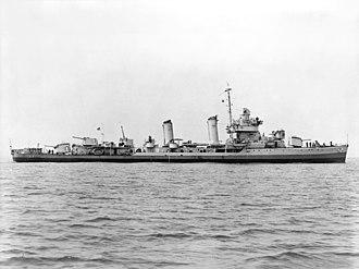 Gleaves-class destroyer - Image: USS Gleaves (DD 423) underway on 18 June 1941 (513043)