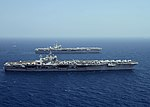 USS Harry S. Truman (CVN-75) and USS GHW Bush (CVN-77) in the Arabian Sea in March 2014.JPG