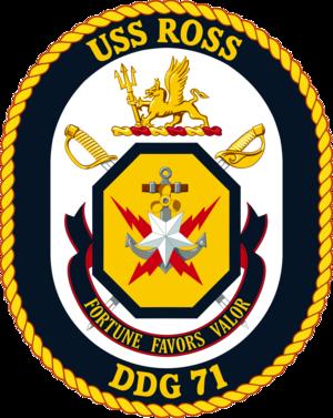 USS Ross (DDG-71) - Image: USS Ross DDG 71 Crest
