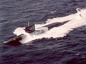 USS Will Rogers (SSBN-659), underway 15 February 1967.