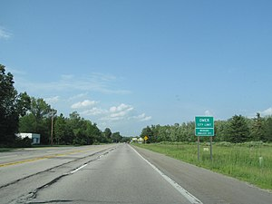 U.S. Route 23 in Michigan - Image: US 23 Omer Michigan