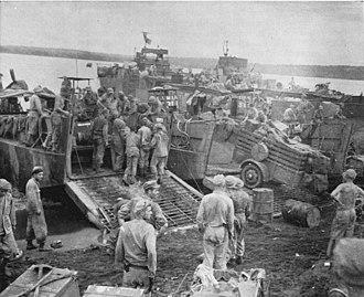 Battle of Talasea - US preparing for the assault at Iboki Plantation