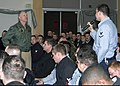 US Navy 060112-N-8825R-026 Damage Controlman 3rd Class Mark Gorley address a question to Commander, U.S. Pacific Fleet, Adm. Gary Roughead, during an All-Hands Call.jpg