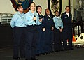 US Navy 070317-N-4007G-001 Aviation Electronics Technician 2nd Class Judith Garza introduces the Million Dollar Lady finalists.jpg