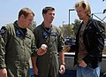 US Navy 070514-N-9604C-037 Cincinnati Reds pitcher Bronson Arroyo signs a baseball for a fan during his visit to Helicopter Maritime Strike Squadron (HSM) 41.jpg