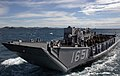 US Navy 070620-N-8487G-113 Landing Craft Utility (LCU) 1651 transits 31st Marine Expeditionary Unit (MEU) personnel to amphibious transport dock USS Juneau (LPD 10) during the recovery of the LCU.jpg