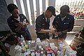 US Navy 071201-M-7696M-144 Sailors prepare prescriptions during a medical aid mission.jpg