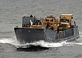 US Navy 080826-N-3392P-105 A landing craft utility assigned to Assault Craft Unit (ACU) 2 prepares to embark aboard the amphibious dock landing ship USS Carter Hall (LSD 50).jpg