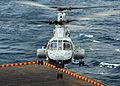 US Navy 080922-N-2183K-045 A CH-53E Super Stallion helicopter lands aboard the amphibious assault ship USS Peleliu (LHA 5).jpg