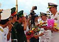 US Navy 100809-N-3589B-222 Rear Adm. Ron Horton greets senior officers of the Vietnam People's Navy and Vietnam Border Police following the arrival of USS John S. McCain (DDG 56) in Da Nang, Vietnam.jpg