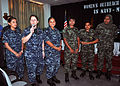 US Navy 101121-N-9061V-061 Sailors assigned to the guided-missile destroyer USS Momsen (DDG 92), join Maldivian coast guard women at an outreach ev.jpg