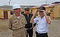 US Navy 101214-N-7589W-258 Cmdr. Mark Becker, mission commander of Southern Partnership Station (SPS) 2011, shares a laugh.jpg