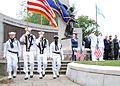 US Navy 110528-N-AU127-202 The color guard of the USS Constitution renders honors during a Memorial Day ceremony.jpg