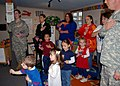 US Navy 111110-N-AU127-064 Service members recite the Pledge of Allegiance with preschoolers to recognize and honor the symbolism of the national e.jpg