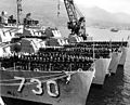 US Navy Destroyer Division 91 receives Navy Unit Commendations at Sasebo in 1951.jpg