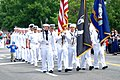 US Navy http-www.navy.mil-management-photodb-photos-100531-N-2456R-001 Sailors assigned to Naval Air Station Brunswick march in the Brunswick-Topsham Memorial Day parade for the final time.jpg