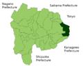 Uenohara in Yamanashi Prefecture.png