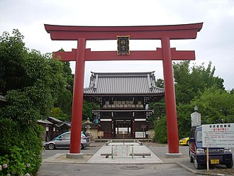 Umenomiya Shrine - Red torii at Umenomiya Shrine.