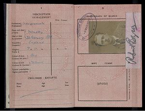 Robert Byron - Robert Byron's British Passport issued in 1923
